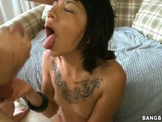 Horny babe Coco Velvett receives a hot load of cock spr...