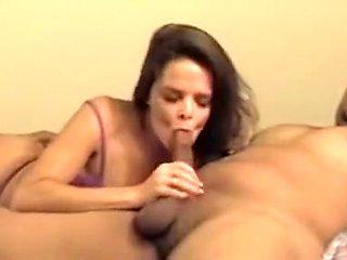 Hot Latin MILF gets double interracial fuck