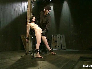 Pretty gets punished - double penetration and made to s...