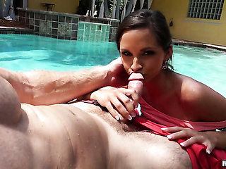 Ashley Sinclair is curious about oral sex with hot dude