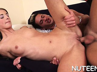 After kissing with lad, charming acquires milk sacks su...