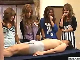 CFNM with outgoing Japanese girls who playfully examine...