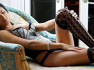 Beautiful and passionate girlfriend named Leila plays w...
