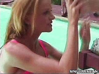 Cunt Cuddling Lesbian Porn Stars