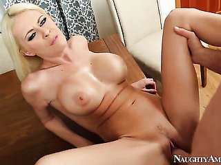 Riley Evans with massive knockers and clean beaver gets...