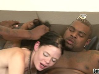 Raunchy Angelina Black enjoys getting spit roasted