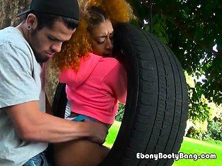 Ebony Slut Kendall Woods Enjoys Big Cock Of Neighbor