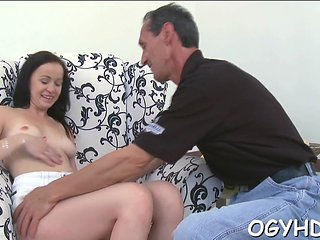 Teen Gives A Blow To An Old Guy Film Video 1