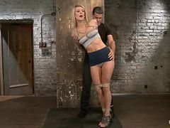 Amanda Tate enjoys getting her pussy toyed while being ...