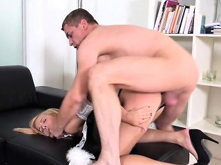 Stud is driving chick insane with his vehement licking