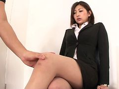 Aggressive fucking of a Japanese beauty in pantyhose an...