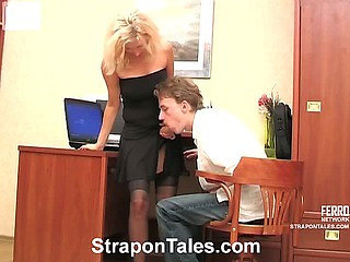 Laura&Randolph nasty strapon action