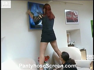 Agatha&Donald pantyhose sex movie