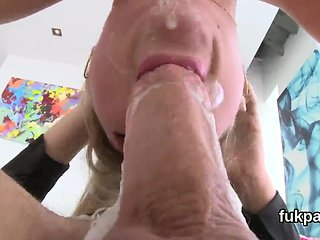 Flawless beauty showcases big butt and gets ass hole rode