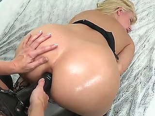 Anal strapon video with hot lesbians Ashley Fires and A...