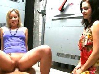 Nasty Brandi Belle loves watching her girlfriend grindi...