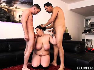 BBW Award Winner Angel Deluca Bangs 2 Guys