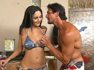 Sexy Ava Addams was invited by Tommy Gunn to tan at his...