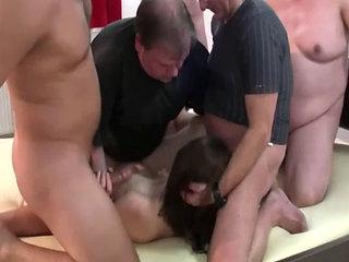 Gang Bang Fisting Her Greedy Teen Pussy
