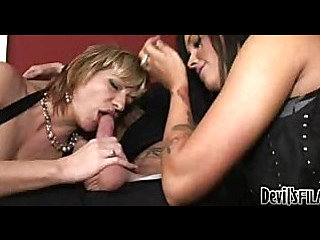Mother Teaching Daughter How To Suck Cock #04
