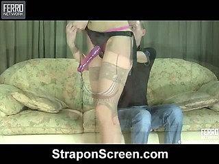 Gloria&Randolph naughty strapon action