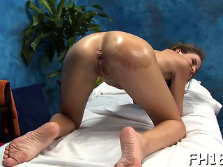 Naughty playgirl bonks and gives a massage!