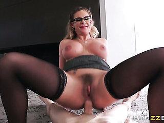 Blonde Phoenix Marie with huge knockers needs nothing ...