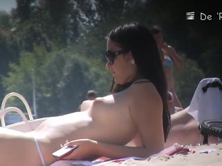 Incredible Amateur record with Outdoor, Nudism scenes