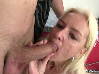 Old Granny Gives Head And Fucks Son-in-law