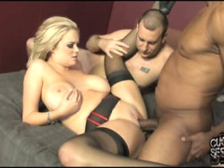Katie Kox pumped hard with a big cock on bed