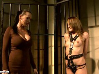 Andy Brown and Mandy Bright babes torturing