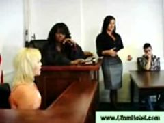Cfnm femdom judge punishes babe man