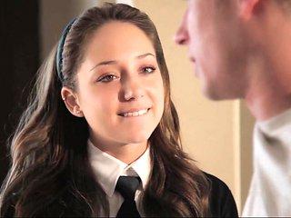 Hony cute schoolgirl