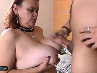 AgedLovE Hot Latin Granny Chubby Fucking Hardcore