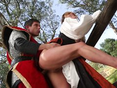 Sleeping Beauty Gets Blown Away By Intense Outdoor Sex ...