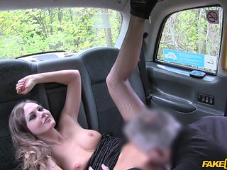 flashing her cunt in the backseat of a taxi