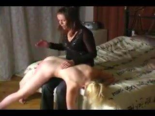 Gym Blonde spanked again