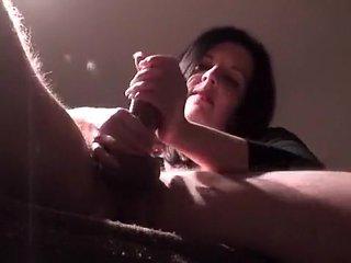 Mom massaging her husband's dick