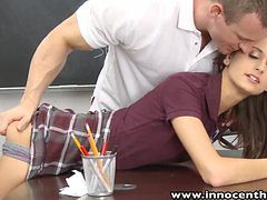 InnocentHigh Smalltits schoolgirl teen rides teachers...