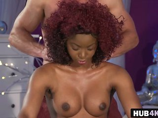 Busty Ebony Jasmine Webb Banging Masseur Big Rod