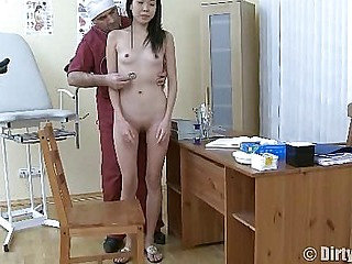 Hot Asian chick seduced by her doc