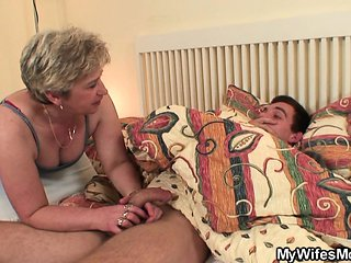 She finds her old mom and boyfriend screwing
