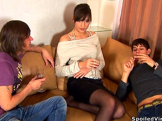 Defloration Of Drunk Young Girl