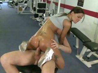 Smoking hot Black Angelica gets a large fuckpole in her...