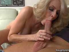 Blonde and hot milf Angela Attison
