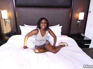 Horny Ebony MILF Freak Fucks White Cock