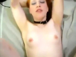Submissive redhead bitch fucked