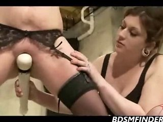 Femdom Lesbian Bound Whipped And Masturbated