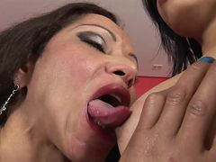 horny shemale gets her cock sucked