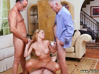 These Horny Old Men Want To Please This Blonde Teen Bitch
